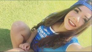 Michelle Pérez, una fanática muy sexy del Cruz Azul Chica.jpg