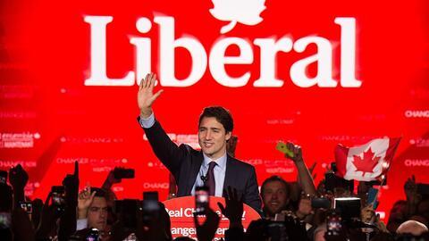 Trudeau se convirtió en primer ministro tras ganar las elecciones...