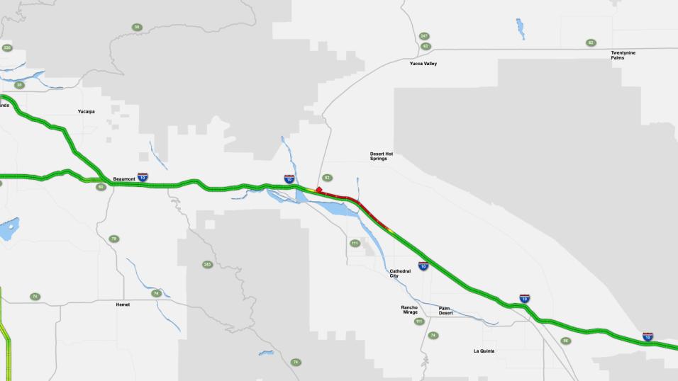El accidente ocurrió sobre la autopista 10 Norte, a la altura de...
