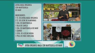 Avena Maga Orgánica de Mantequilla de Maní