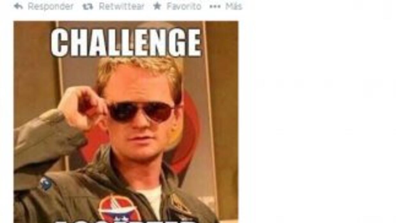La cuenta del Tri aceptando el reto en Twitter.