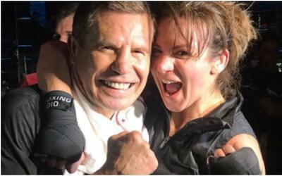 Silvia Navarro  boxea