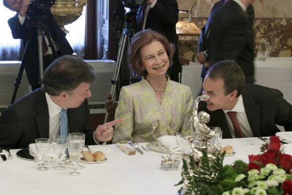 Al evento también asisitó Zapatero.