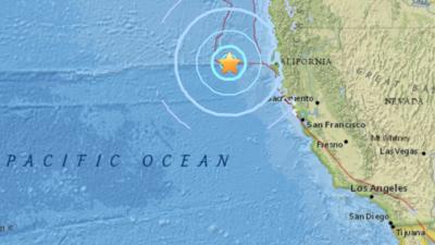 El temblor de 5.7 se registró cerca a la costa norte californiana.