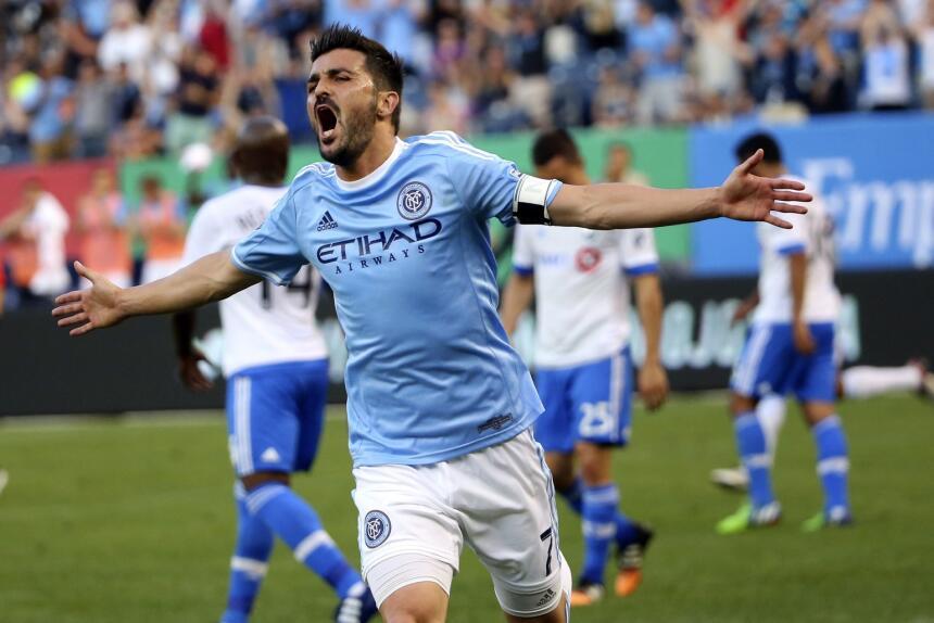 El crack español David Villa abrió el marcador al minuto 31 para NYCFC q...