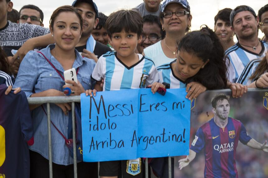 Seguidores de la Selección Argentina