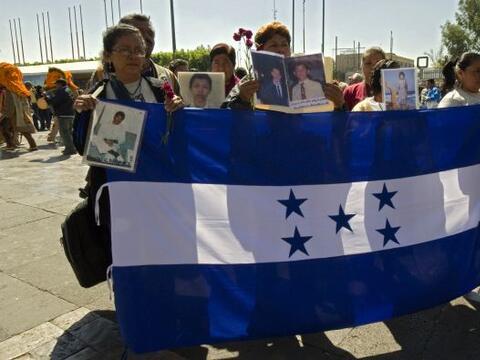 La caravana de familiares de migrantes hondureños desaparecidos e...
