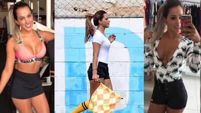 ¡Bomba! La nueva estrella del fútbol brasileño es esta espectacular jueza de línea