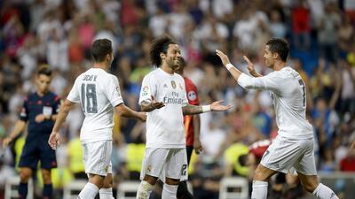 Marcelo marcó el gol del triunfo del Real Madrid en el Santiago Bernabéu.