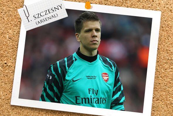 La portería tiene dueño con el guardameta Wojciech Szczesny del Arsenal.