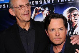 """Los actores principales de la trología """"Volver al Futuro"""", Michael J. Fo..."""