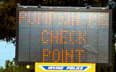 """Policía de Irvine instaló """"retenes de pastel de calab..."""
