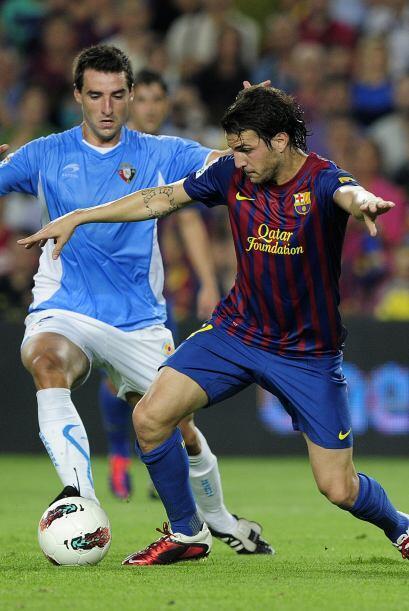 Fábregas se ha acoplado al equipo 'azulgrana' de manera perfecta.