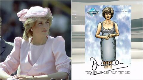 Un comic le rinde tributo a la vida de la princesa Diana