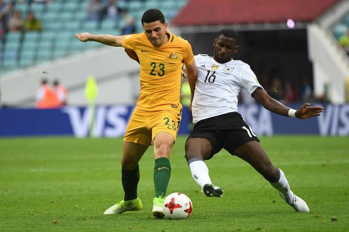 'Baby Alemania' sufrió pero derrotó a Australia en la Copa Confederacion...