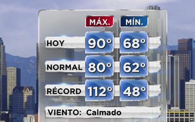 Lunes soleado y muy cálido para empezar la semana en Los Ángeles