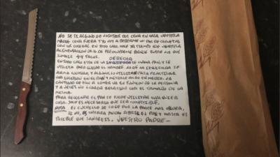 La fotografía viral de la nota y los panes que el padre dej&oacut...
