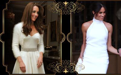 Kate Middleton y Meghan, los vestidos que usaron en la recepción de sus...