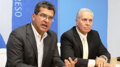 Pedro Pierluisi y su director de campaña, Néstor Aponte