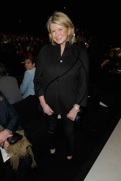 Para ponerle mucho sazón a la moda, la señora Martha Stewart se hizo pre...