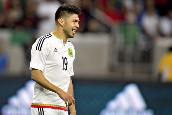 """8     Oribe Peralta entró por la lesión de """"Chicharito"""" y probablemente..."""