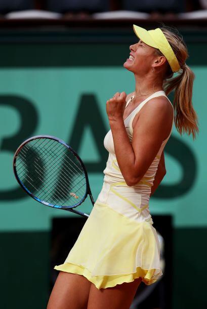 En entrevista, Sharapova comentó que García comenzó muy agresiva en el j...