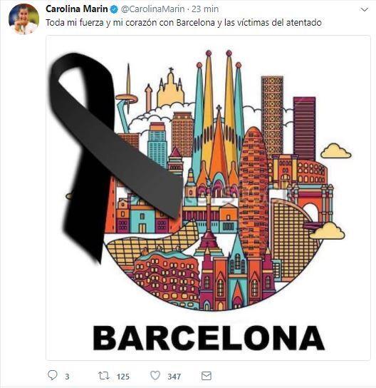 El mundo del deporte se solidariza con las víctimas de Barcelona BCN26.JPG