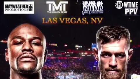 Mayweather vs McGregor se enfrentarán en Las Vegas.