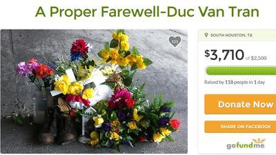 Colecta para un funeral 'digno'