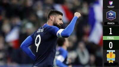 Francia tuvo más garra y aplacó a Suárez y compañía