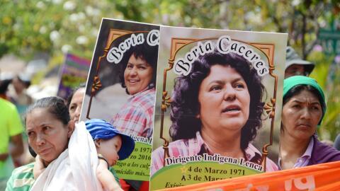 Manifestación en recuerdo de Berta Cáceres