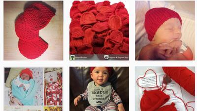Gorros rojos para apoyar la campaña Go Red