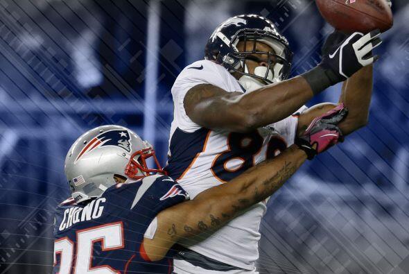 1 Demaryius Thomas: Durante la derrota 31-21 de los Broncos ante los Pat...