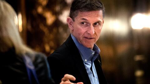El teniente general retirado Michael Flynn, ex consejero de seguridad na...