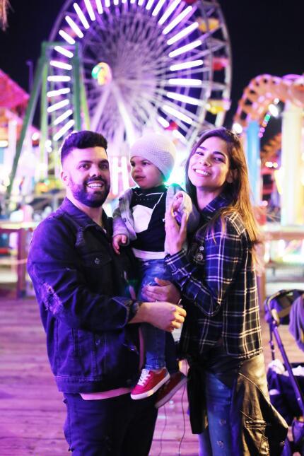 En fotos: Alejandra Espinoza de paseo por Santa Mónica con Matteo