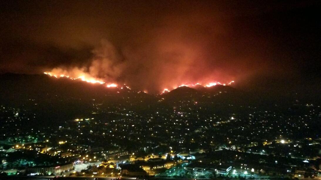 Imagen tomada desde el helicóptero de la Policía de Burbank.
