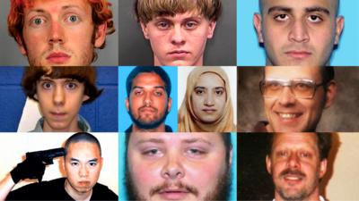 Los rostros criminales detrás de los peores tiroteos en EEUU de los últimos 50 años