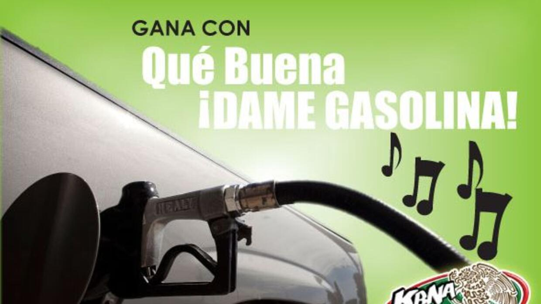 """En cuanto escuches """"Qué Buena ¡Dame Gasolina!"""" llámanos para ganar una t..."""