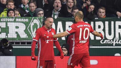 Arjen Robben y Franck Ribery se irán del Bayern München