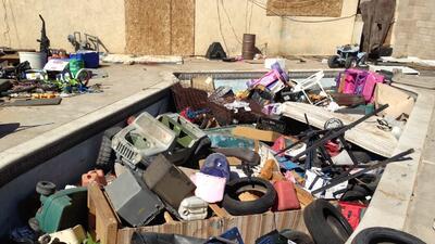 Las condiciones infrahumanas de una casa en Victorville
