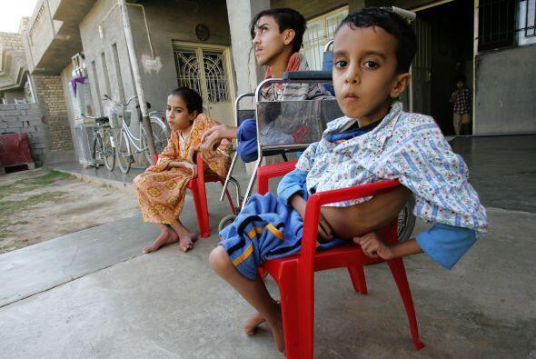 Se desconoce el número de niños que ha sido herido por la...