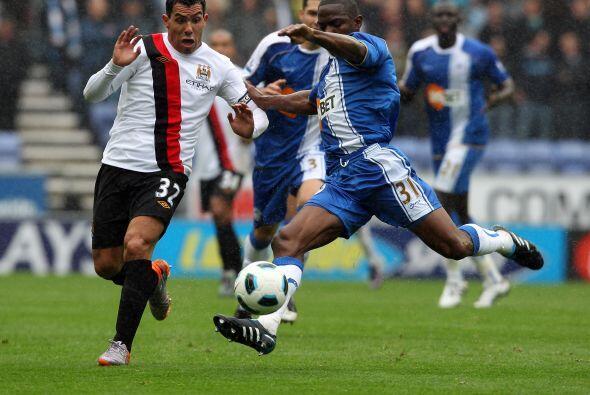 Finalmente, el Manchester City visitó al débil Wigan.