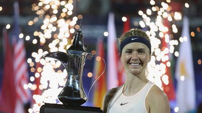 Elina Svitolina, la bella campeona del torneo de Dubai que mira a la cima del tenis