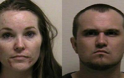 Lacey Christenson (i) y Colby Wilde (d), padres que proporcionó d...