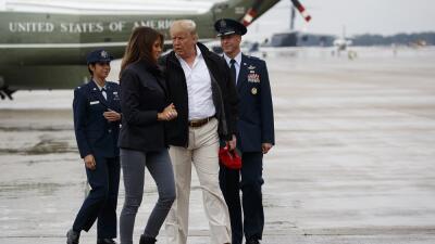 Minuto a minuto: Donald y Melania Trump visitan las zonas arrasadas por Michael