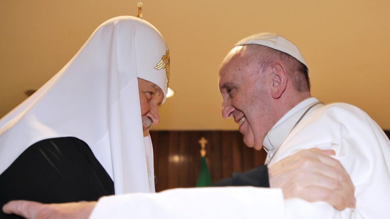 Francisco y el patriarca ortodoxo se reunieron en La Habana.