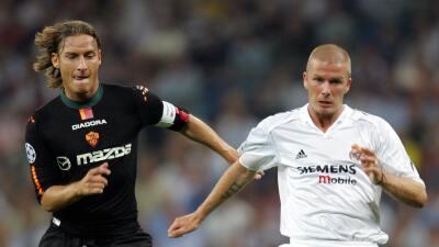 Francesco Totti en el Bernabéu