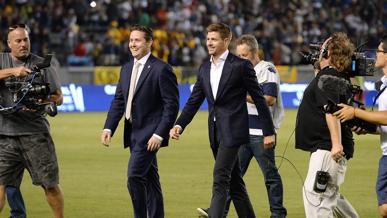 LA Galaxy cree que Steven Gerrard tendrá un impacto similar al de David...