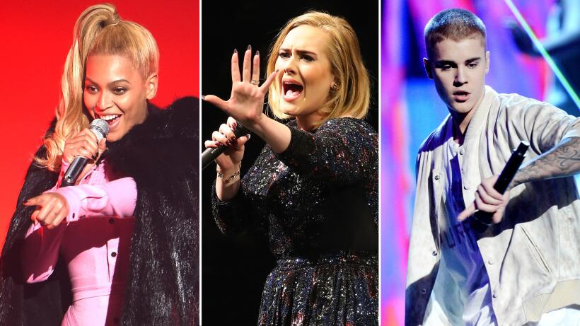 ¿Quiénes quieren hacer dueto con Beyoncé, Adele y Justin?