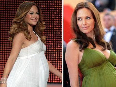 Jennifer Lopez, Angelina Jolie, Natalie Portman, Thalía y Demi Mo...
